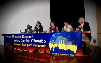 Primer Simposio Nacional sobre Cambio Climático:  Perspectivas para Venezuela