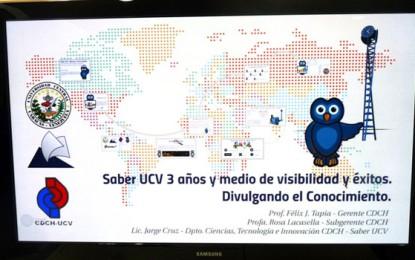 Saber UCV: Más de tres años de visibilidad y éxitos