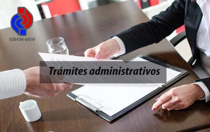 Lapsos para trámites administrativos en el CDCH