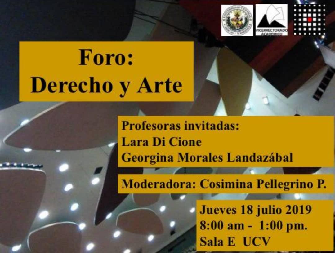Foro: Derecho y  Arte