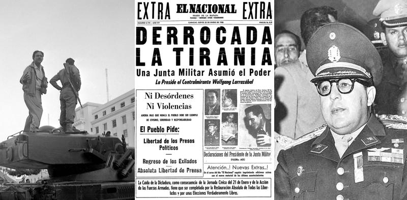El 23 de Enero se celebra en Venezuela el Día de la Democracia.