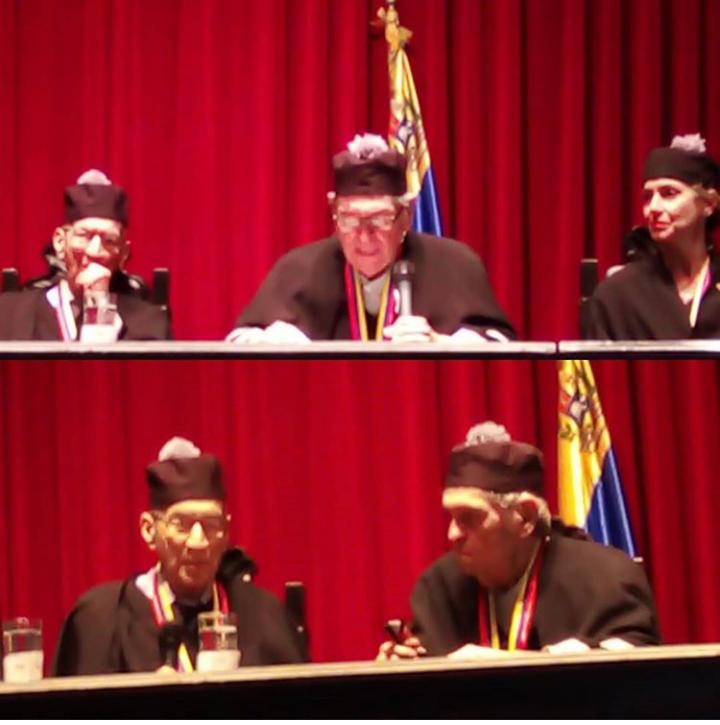 Rafael Cadenas y Guillermo Sucre Doctorado Honoris Causa